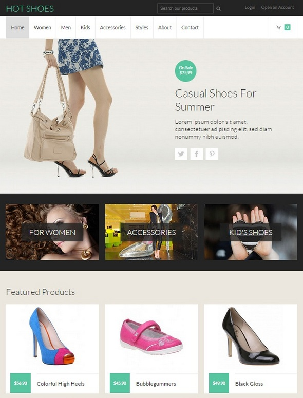 Шаблон Hot Shoes от HotThemes