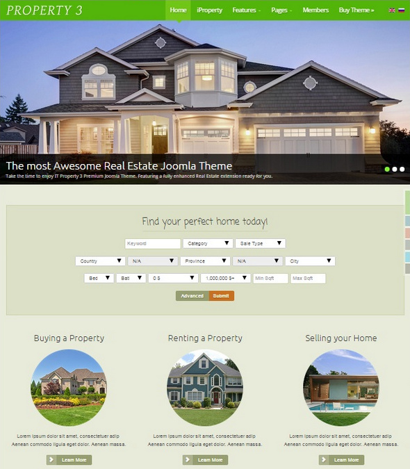 Шаблон IT Property 3 от IceTheme