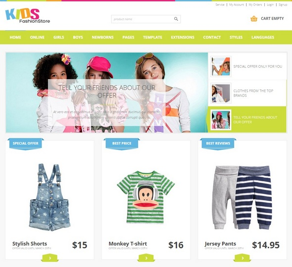 Шаблон JM Kids Fashion Store от Joomla-Monster