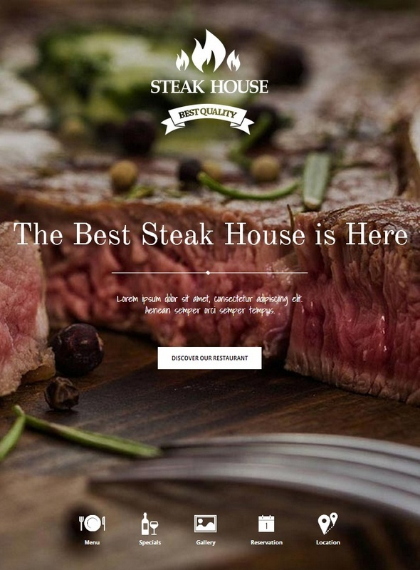Шаблон Steak House от GavickPro