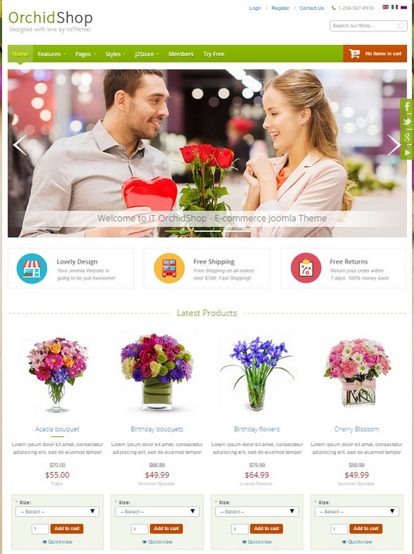 Шаблон IT OrchidShop от IceTheme