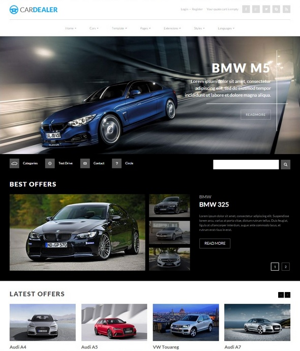 Шаблон JM Car Dealer от Joomla-Monster