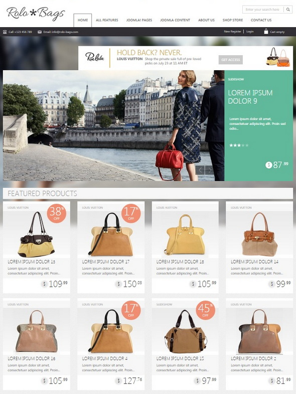 Шаблон OT Fashionbag от OmegaTheme