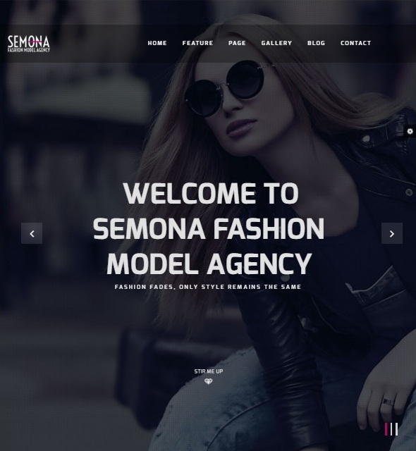 Шаблон Fashion Semona от TemPlaza