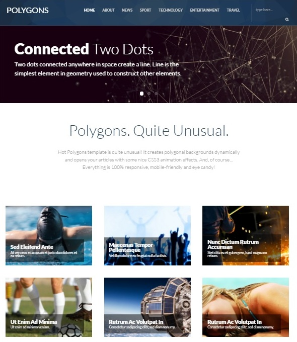 Шаблон Hot Polygons от HotThemes