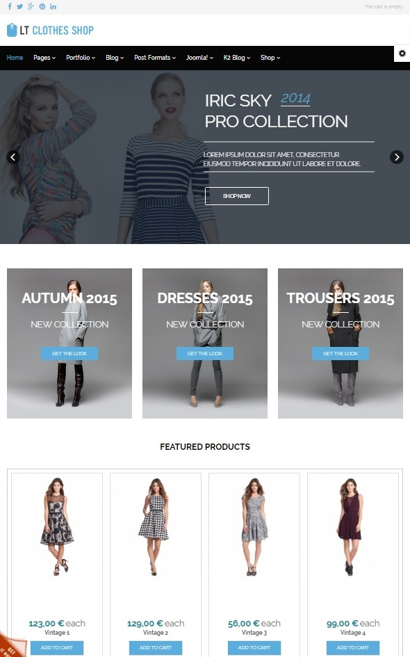 Шаблон LT Clothes Shop от L.THEME