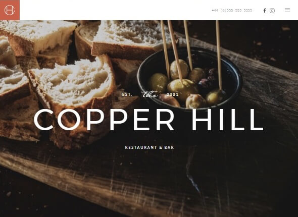 Шаблон Copper Hill от YOOtheme