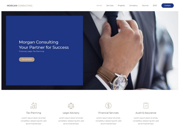 шаблон Morgan Consulting